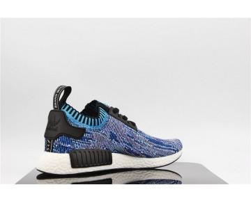 "Adidas NMD R1 Primeknit ""Camo-Pack"" Genial Blau Gefärbt S81541"