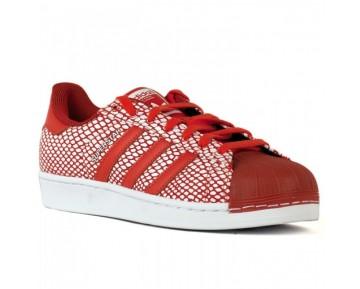 Adidas Superstar Snake Pack Schuhe Rot/Laufen Weiß S82730