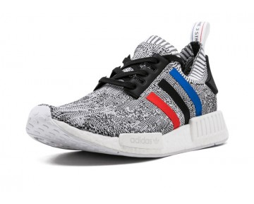 "Adidas NMD_R1 Primeknit ""Tri-Color"" Pack BB2888 Ftwr Weiß/Core Rot/Core Schwarz"