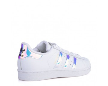 Adidas Originals Superstar Junior Klassisches Weiß/Hologramm Irisierenden AQ6278