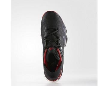 Adidas Crazylight Boost Low 2016 Herren Basketballschuhe AQ8279 Kern Schwarz/Scharlachrot/Kern Schwarz