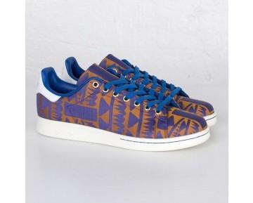 Adidas Stan Smith Blau/Gold S75121