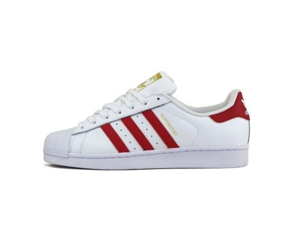 Adidas Originals Superstar Foundation Weiß Scharlach Rot B27139