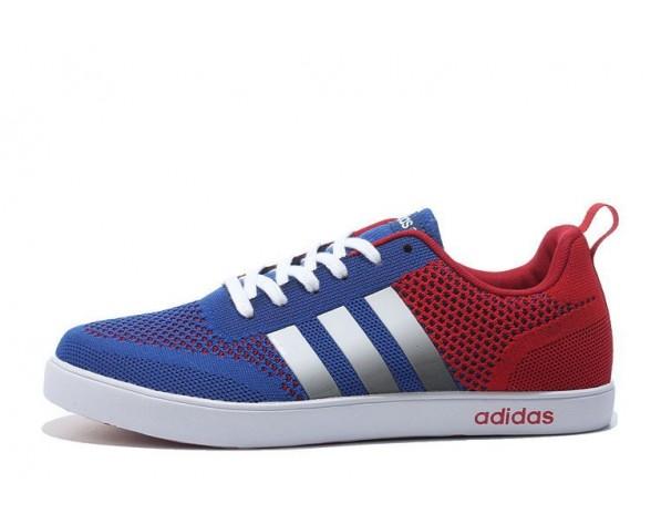Adidas Neo Flyknit Damen Herren Laufschuhe Königsblau/Tiefrot