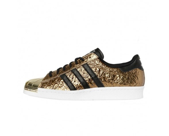 Adidas Originals Superstar 80s Metal Toe Gold Metallic/Kern Schwarz/Weiß B25033