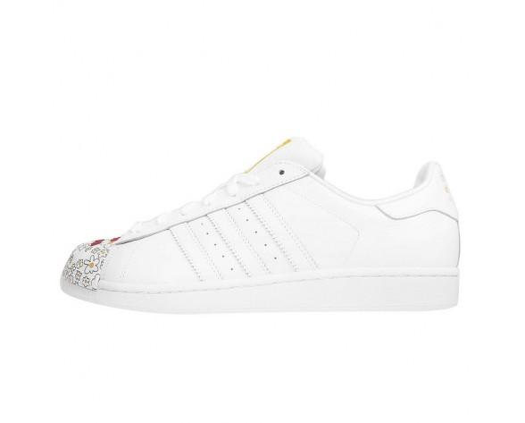 Adidas Originals Superstar MR Supershell Weiß/Weiß/Gelb S83368