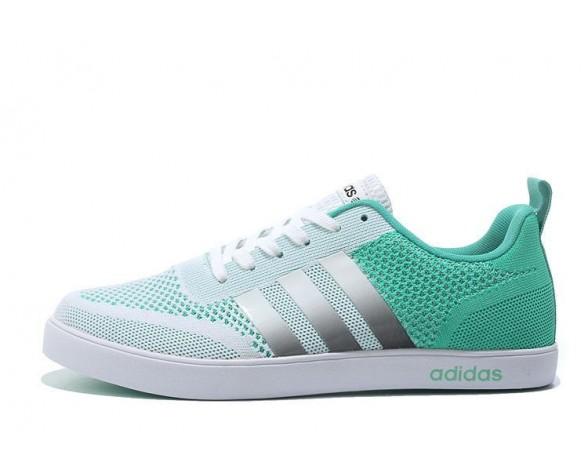 Adidas Neo Flyknit Damen Herren Laufschuhe Weiß/Mint Grün/Silber