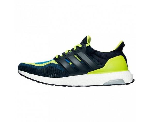 Herren Adidas Ultra Boost Laufschuhe Halb Solar Schleim/Nacht Marine AQ4002 YEL