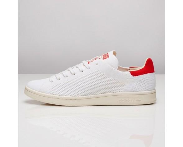Adidas Stan Smith OG Primeknit Schuhe Kern Weiß/Kreide Weiß/Rot S75147