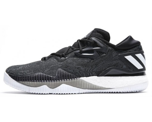 Adidas Crazylight Boost Low 2016 Herren Basketballschuhe B42722 Schwarz-Weiss