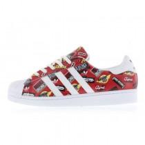 Nigo x Adidas Originals Superstar LOGOS Scharlachrot Rot/Weiß/Blau Vogel S83388