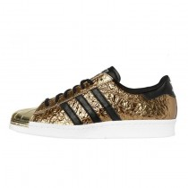 Adidas Originals Superstar 80s Metal Toe Gold Metallic/Kern Schwarz/Weiß B25033