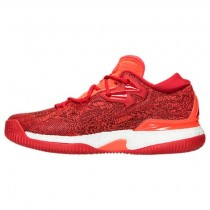 Adidas Crazylight Boost Low 2016 Herren Basketballschuhe B42389 Scharlach Rot/Scharlach