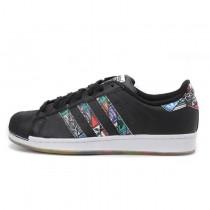 Adidas Originals Superstar LOGOS Zunge Etikett Schwarz S79391