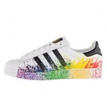 Adidas Superstar LGBT Pride Pack Weiß/Schwarz/Regenbogen D70351