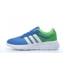 2016 Adidas Neo Damen Herren Running Schuhe Foto Blau/Weiß/Giftgrün