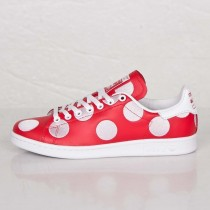 Adidas X Pharrell Williams Stan Smith BPD Schwarze Tupfen B25399 Rot/Rot/FTWR Weiß