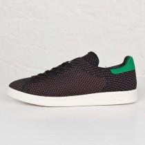 Adidas Originals Stan Smith Primeknit NM Turnschuhe Kern Schwarz/Grün/Kreide Weiß S82633