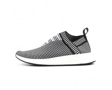 2017 Adidas NMD City Sock CS2 Schwarz/Weiß/Streifen BA7212