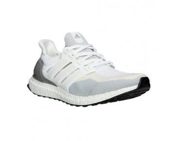 Herren Adidas Ultra Boost Laufschuhe Weiß/Klar Grau/Kern Schwarz AQ4007 WTG