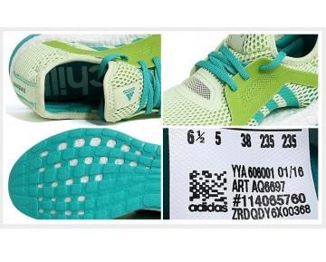 Adidas Pure Boost X Training Schock Grün/Semi Sonnen Schleim AQ6697