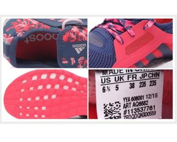 Adidas Pure Boost X Training Mineralien Blau/Schock Rot AQ6682