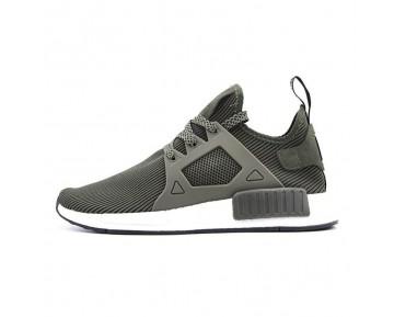 "Adidas Originals NMD Primeknit XR1 ""Olive"" S32217"