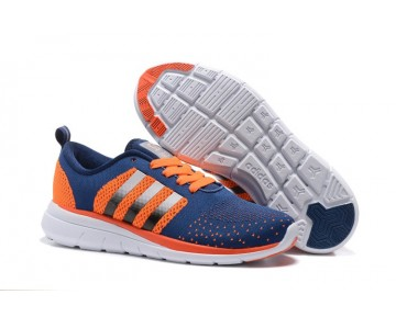Adidas Neo Flyknit Damen Herren Laufschuhe Dunkles Blau/Orange