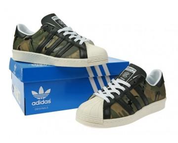 CLOT x KZK x Adidas Originals Superstar 80s CAMO Hanf/Kern Schwarz/Kern Weiß  B26093