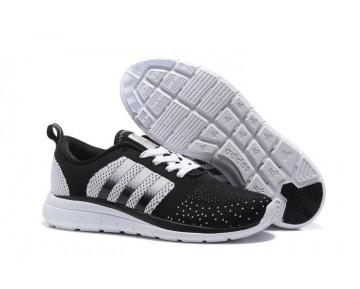 Adidas Neo Flyknit Damen Herren Laufschuhe Schwarz Weiss