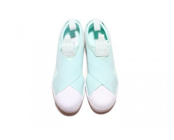 2016 Adidas Originals Superstar Slip On Kristall Minze S76407