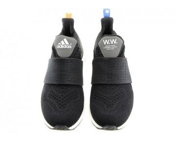 Wood Wood x Adidas Ultra Boost Schwarz/Weiß/Orange/Blau AF5780