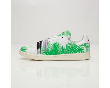 Adidas x Pharrell Williams x BBC Palme Stan Smith S82071 FTWR Weiß/FTWR Weiß/Kern schwarz