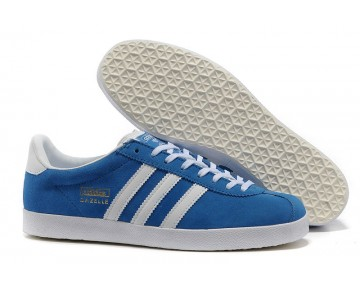 Adidas Gazelle OG Schuhe Helle Königs/Weiß/Gold Metallic G16183