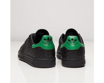 Adidas Originals Stan Smith Schlangeneffekt Schuhe Kern Schwarz/Kern Schwarz/Grün S80022