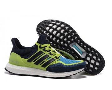 2016 Adidas Ultra Boost Dunkelblau/Fluoreszierendes Grün/Schwarz AF4690