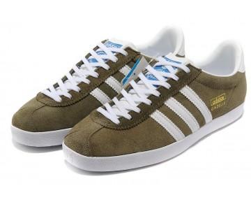 Adidas Gazelle OG Herrenschuhe Eiche/Metallic Gold/Weiß G63200