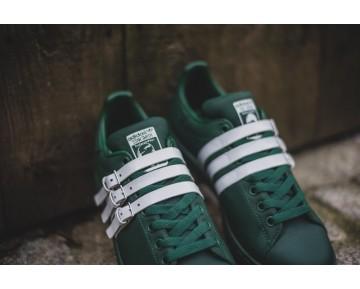 Adidas Stan Smith Strap x Raf Simons Dunkelgrün/Dunkelgrün/Altweiß AQ2722