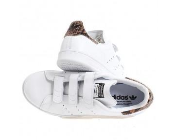 Adidas Originals Stan Smith CF W Weiß Snakeskin der Frauen Freizeitschuhe S81389