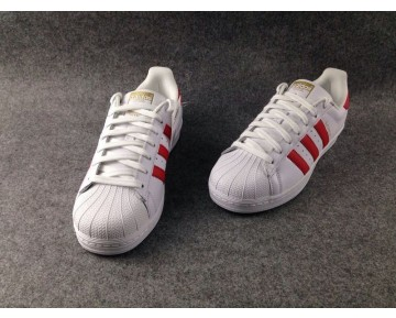 Adidas Originals Superstar Foundation Weiß Scharlach Rot B27139