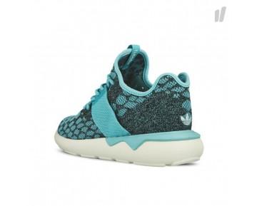 Adidas Tubular Runner Primeknit Schuhe Blau Spirit/Kern Schwarz/Altweiß B25572