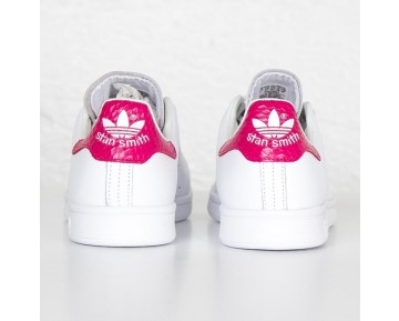 Adidas Originals Stan Smith Damen-Turnschuhe FTWR Weiß/Dunkel Rosa S75080