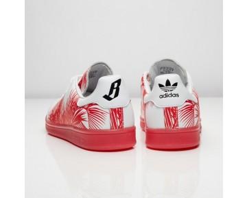 Adidas x Pharrell Williams x BBC Palme Stan Smith S82072 Kern Schwarz/Rot/FTWR Weiß