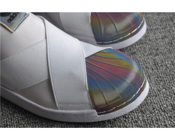 Adidas Superstar Slip On W Weiß/Regenbogen S82792