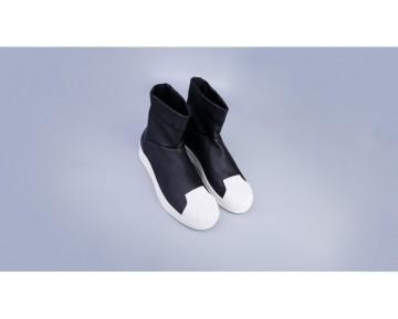 Rick Owens x Adidas Superstar Stiefelette Schwarz/Hellknochen S82824
