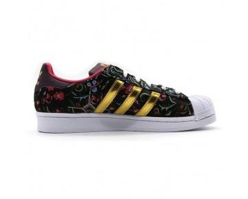 Adidas Damen Superstar Schuhe Kern Schwarz/Gold Met/Merlot B35441
