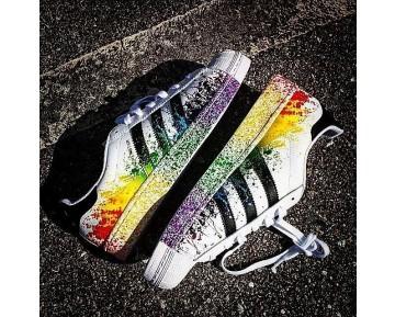 Adidas Superstar LGBT Pride Pack Running Weiß Ftw/Kern Schwarz/Regenbogen D70351
