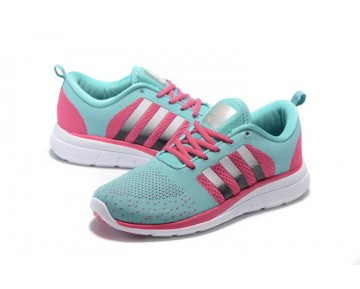 Adidas Neo Flyknit Damenlaufschuh Minze/Fuchsia