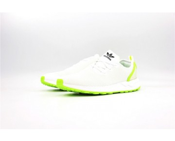 Adidas Originals ZX Flux Racer Asym Weiß/Fluoreszierend Grün AQ3166