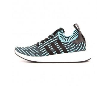 """Adidas Originals NMD Primeknit R2 """"Streifen Mondlicht Schwarz"""" BB2904"""